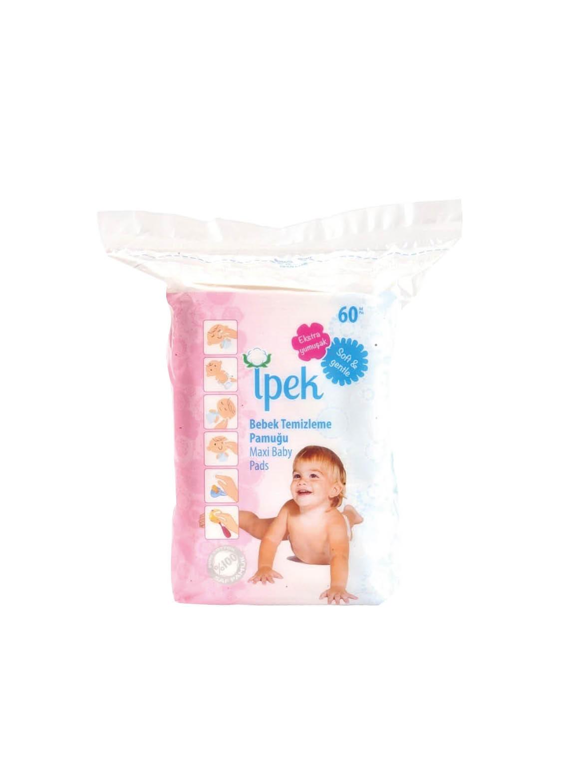 813NW İpek Bebek Temizleme Pamuğu Maxi Baby 60'Lı