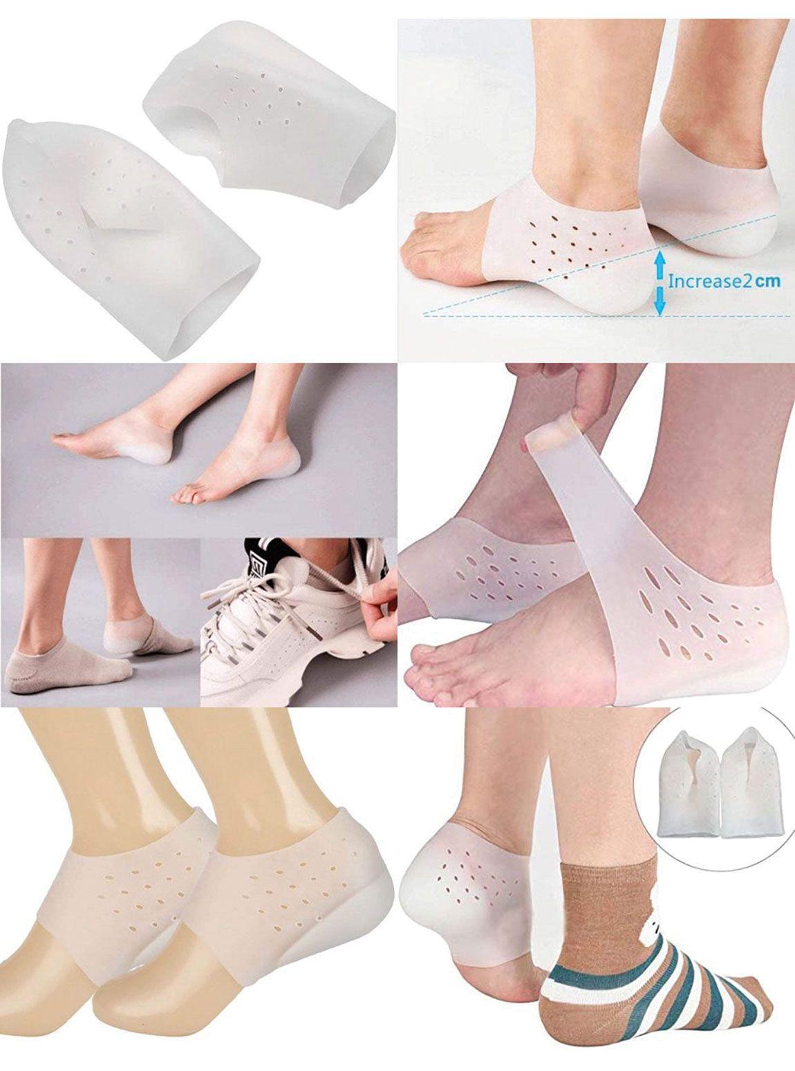 T561 Topuk Yükseltici Topuk Çorabı  4 Cm